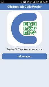 CliqTags QR Code Reader